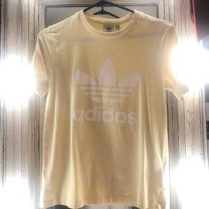 NWOT yellow adidas shirt